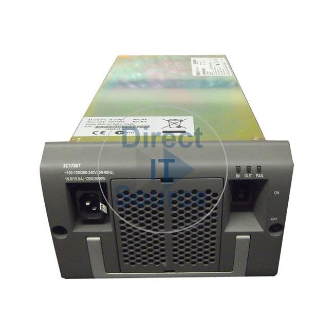3 Com 3C17507 - 2000W Power Supply for Cloudengine 8800