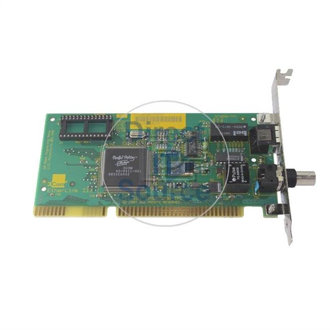 3Com 3C509B-TPC - Etherlink III Ethernet 10MBPS RJ-45 BNC ISA Adapter