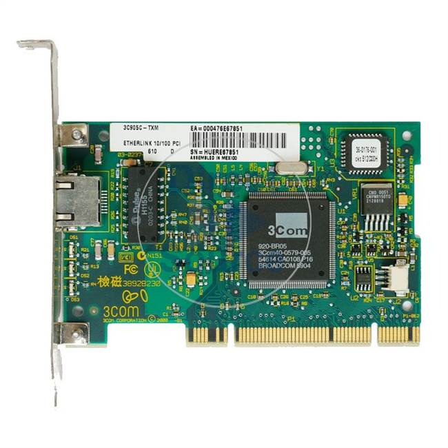 3Com 3C905C-TXM - Ethernet PCI Adapter