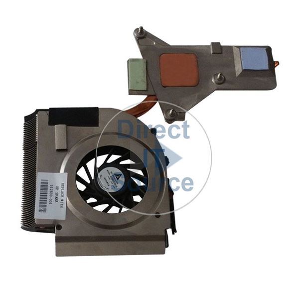 HP 512830-001 - Fan & Heatsink for Pavilion DV6-1000