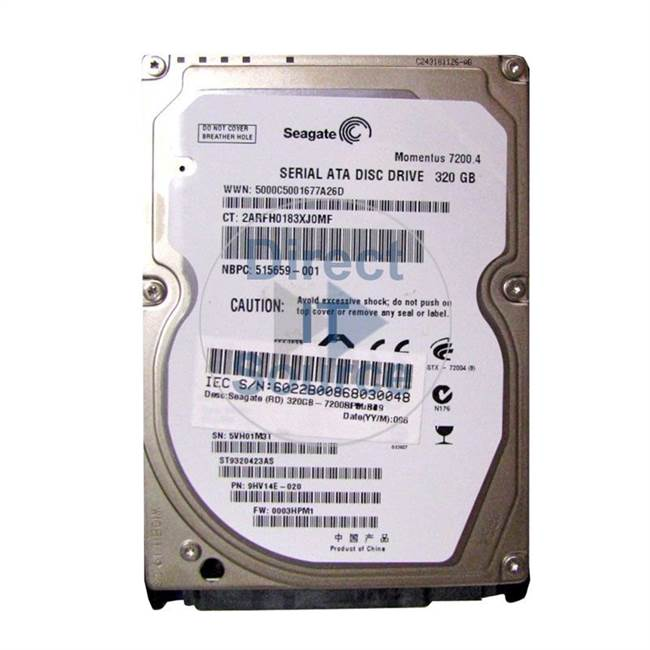 HP 515659-001 - 320GB 7200RPM 2.5-Inch Hard Drive