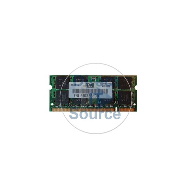 HP 516336-001 - 2GB DDR2 PC2-6400 NON-ECC UNBUFFERED 200 Pins Memory