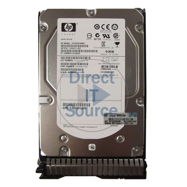 "HP 516832-004 - 450GB 15K SAS 6.0Gbps 3.5"" Hard Drive"