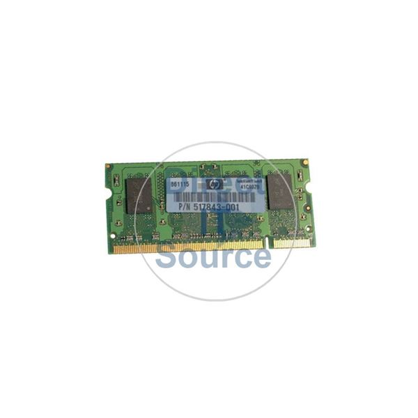HP 517843-001 - 1GB DDR2 PC2-6400 NON-ECC UNBUFFERED 200 Pins Memory