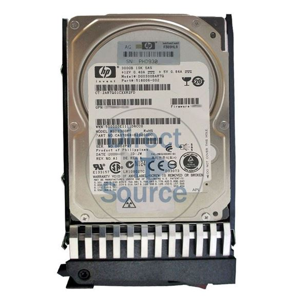 "HP 518006-002 - 300GB 10K SAS 3.0Gbps 2.5"" Hard Drive"