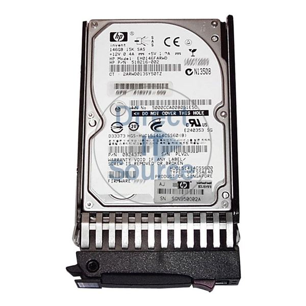 "HP 518216-002 - 146GB 15K SAS 6.0Gbps 2.5"" Hard Drive"