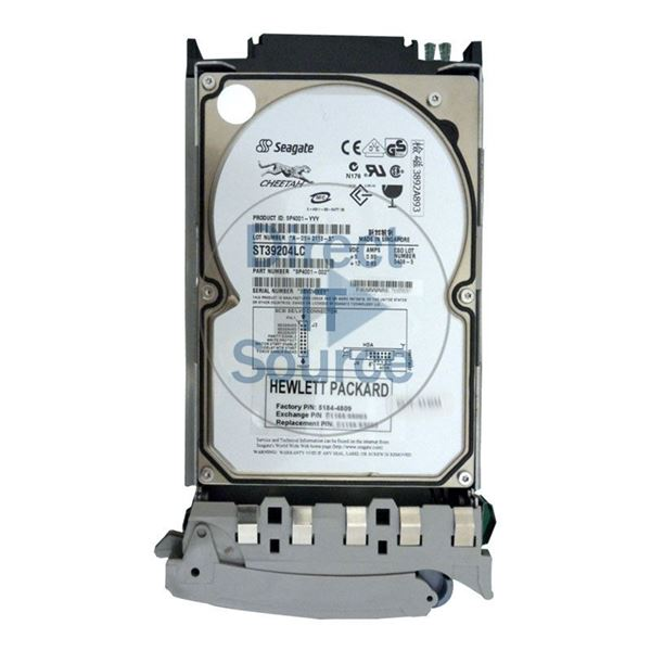 "HP 5184-4809 - 9.1GB 10K 80-PIN SCSI 3.5"" Hard Drive"
