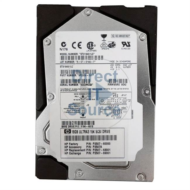 HP 5184-4813 - 18GB 15000RPM 3.5Inch SCSI 80Pin Hard Drive