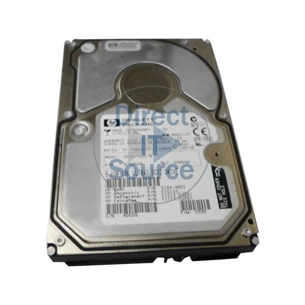 HP 5184-4821 - 9.1GB 10K 68-PIN SCSI Hard Drive