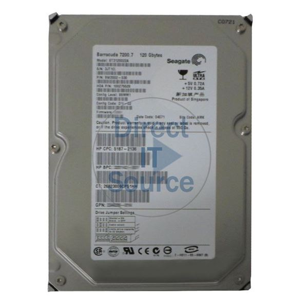 "HP 5187-2136 - 120GB 7.2K IDE 3.5"" Hard Drive"