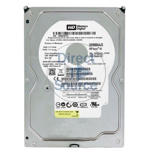 "HP 5188-2868 - 80GB 7.2K SATA 3.5"" Hard Drive"