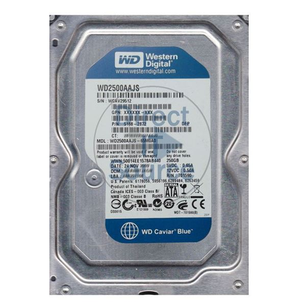 "HP 5188-2872 - 250GB 7.2K SATA 3.5"" Hard Drive"