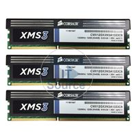 Corsair CMX12GX3M3A1333C9 - 12GB 3x4GB DDR3 PC3-10600 Non-ECC Unbuffered 240-Pins Memory