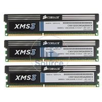 Corsair CMX12GX3M3A2000C9 - 12GB 3x4GB DDR3 PC3-16000 240-Pins Memory