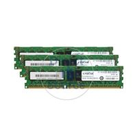Crucial CT3KIT51272BB1339 - 12GB 3x4GB DDR3 PC3-10600 ECC Registered 240-Pins Memory