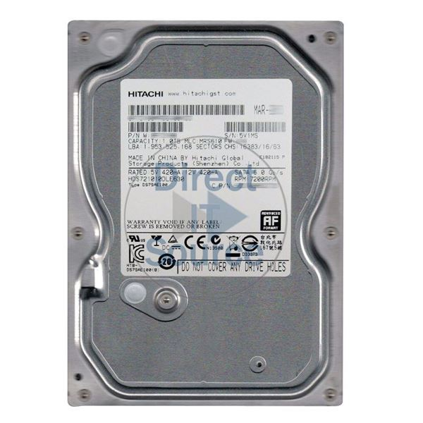 Hitachi HDS721010DLE630 - 1TB 7.2K SATA 6.0Gbps 3.5Inch 32MB Cache Hard Drive