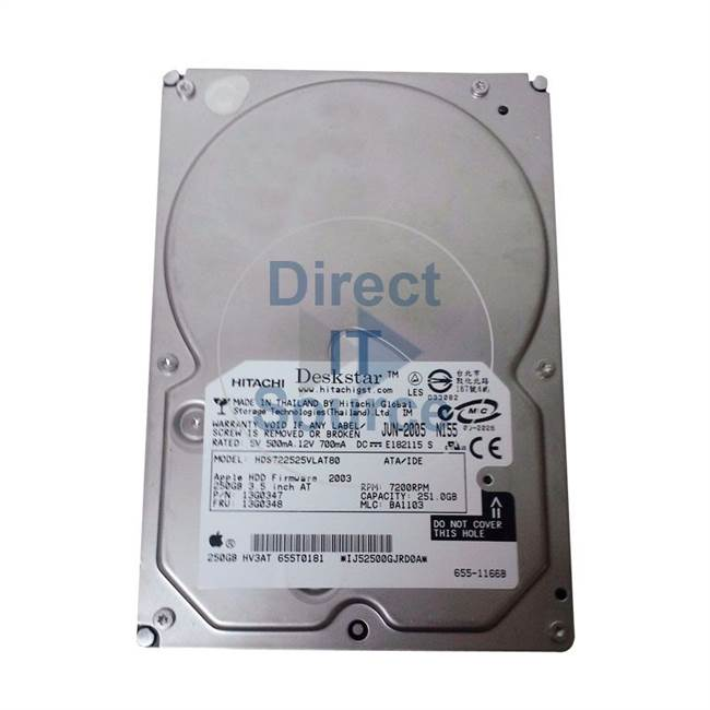 Hitachi HDS722525VLAT80 - Ultrastar 250GB 7200RPM IDE Ultra ATA-133 Internal 3.5Inch Buffer 8MB Hard Drive