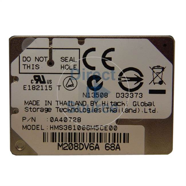 Hitachi HMS361006M5CE00 - 6GB 3600RPM ATA 1-Inch Hard Drive