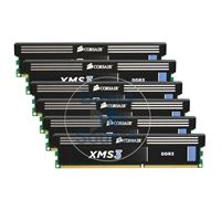 Corsair HX3X12G1600C9 - 12GB 6x2GB DDR3 PC3-12800 240-Pins Memory