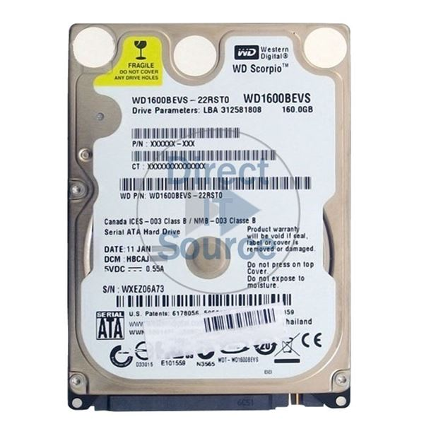 WDC WD1600BEVS-22RST0 DRIVERS FOR WINDOWS 10