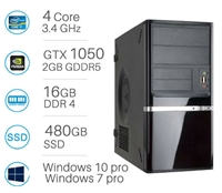 CAD WORKSTATION - i7-6700 | 16GB DDR4 | 480GB SSD | Nvidia GTX1050 2GB | Win 7/10 Pro
