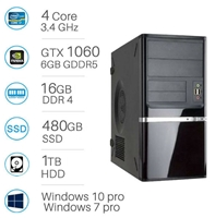CAD WORKSTATION -  i7-6700 | 16GB DDR4 | 480GB SSD + 1TB | Nvidia GTX1060 6GB | Win 7/10 Pro