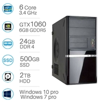CAD WORKSTATION - i7-6800 | 24GB DDR4 | 500GB SSD+2TB | Nvidia GTX1060 6GB | Win 7/10 Pro