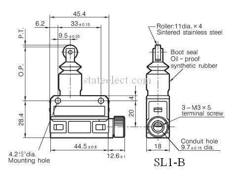 Horizontal Limit Switches, Limit Switch Boot Seal Roller