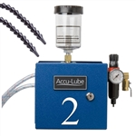 Accu-Lube, 02A0-DMO, Applicator, 2 Pump Boxed, Manual on/off, Loc-Line Nozzle with Magnetic Base, and Magnetic Mounts