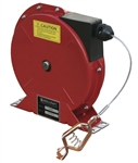 Buy Reelcraft Spring Retractable Grounding Reels, 50, 100 amp Single Clamp, Nylon Coated Cable Online