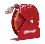 Buy Reelcraft Spring Retractable Grounding Reels, 100, 100 amp Single Clamp, Nylon Coated Cable Online