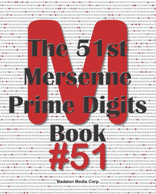 The 51st Mersenne Prime Digits Book - Optional Magnifier - Customizable