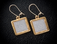 Digits of Pi Gold Earrings