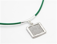Digits of Pi Leather Necklace w/ Sterling Silver Bail