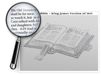 The Entire King James Bible Poster - Optional Magnifier - 24 x 18 Inches