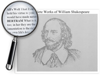 The Utterly Complete Works of Shakespeare Poster - Optional Magnifier - 24 x 18 Inches
