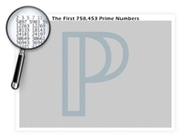 The Three-Quarter Million Prime Numbers Poster - 24 x 18 Inches