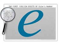 The One Million Digits of Euler's Number Poster - Optional Magnifier - Many Colors - 19 x 13 Inches