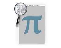 The Ten Million Pi Digits Poster