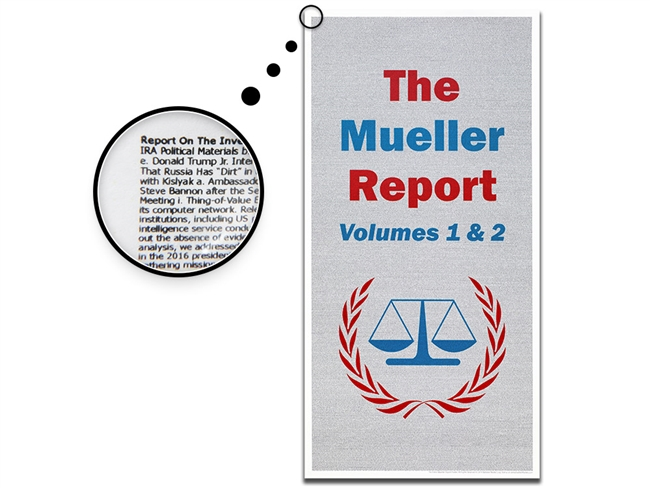 The Entire Mueller Report Poster (Volumes 1 & 2) -  13 x 26 Inches