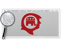 The President Donald Trump 2016 Election Tweets Poster - More Than One Million Characters - Optional Magnifier - 26 x 13 Inches