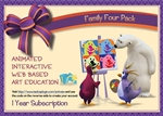 Family Four Pack Gift Certificate & Furnace Plush Bundle