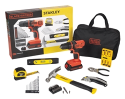 Black & Decker / Stanley Cordless Drill 70pc. Tool Kit