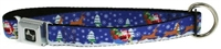 santa and reindeer dog collar and leash set