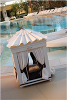 royal cabana canopy dog bed