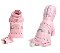 ruffin it pink dog parka