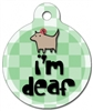 I'm deaf medical alert dog id tag