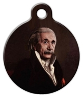 einstein dog id tag