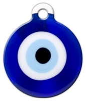evil eye dog id tag