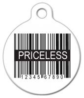 priceless dog id tag